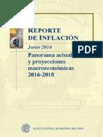 Reporte de Inflacion Junio 2016