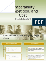 Article - Comparability, Competition, And Cost