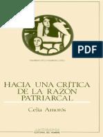 Celia Amoros - Hacia Una Critica de La Razon Patriarcal