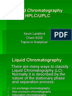 Liquid Chromatography HPLC/UPLC