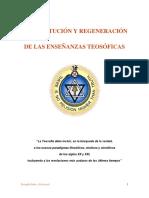 La Restitución y Regeneración de Las Enseñanzas Teosóficas. PDF