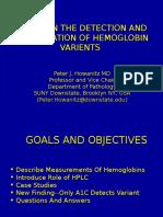 Identification of Hemoglobin Varients through HPLC