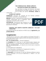 Las Fuentes Formales Del Orden Jurídico Unidep