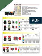Botão - Elem Contato - Bloco de Lâmpada - Sinalizador LED - Sinalizador Luminoso e Sonoro - Botoeiras - Chave Fim de Curso