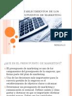 Establecimientos de Los Presupuestos de Marketing