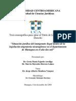 Situación Jurídica Del Migrante en Managua