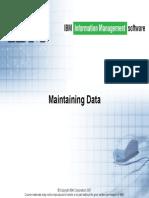 10 Maintaining Data