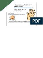 Orthop Exam of Wrist Hand & Forearm