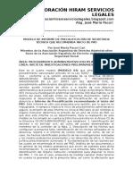 Modelo de Informe de Precalificación de Secretaria Técnica Que Recomienda Inicio de Pad