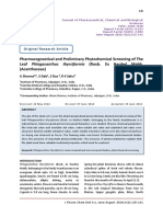 Pharmacognostical and Preliminary Phytochemical Screening of The Leaf Phlogacanthus thyrsiformis (Roxb. Ex Hardw) Mabb. (Acanthaceae)