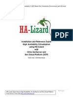 Installation and Reference Guide High Availability Virtualization Using HA-Lizard With Citrix XenServer and Xen Cloud Platform (XCP)