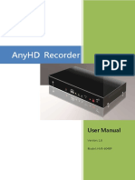 AnyHD Recorder 6048P User Manual