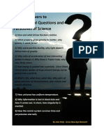 Simple Answers to Fundamantal Question and Paradoxes of Science