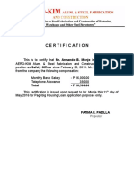Aerokim Certification