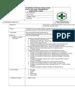Sop Monitoring Status Fifiologi Pasien Selama Pemebrian Anastesi Lokal