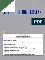 Presentasi 1. Teknik Listrik Terapan