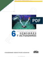 Manual Sensores Actuadores Electromotores Clasificacion Aplicaciones Unidad Control Estructura Sistemas Electronicos