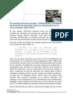 El Consejo Técnico Escolar, Limitaciones y Alcances de Formación Docente Ante Su Restitución en El Ciclo Escolar 2013-2014 (1)