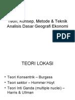 Teori Konsep Metode Geoekonomi