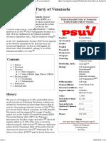 United Socialist Party of Venezuela - Wikipedia, The Free Encyclopedia