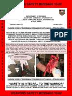 M2 Machine Gun Safety Message 10-02