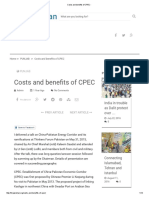 Costs and Benefits of CPEC