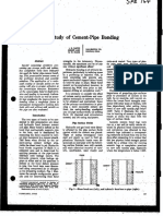 A Study of Cement Pipe Bonding