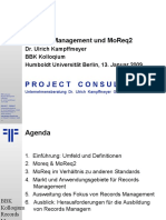 [DE] Records Management & MoReq2 | Dr. Ulrich Kampffmeyer | BKK Berlin | 2009