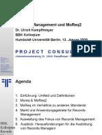 [DE] Records Management & MoReq2 | Dr. Ulrich Kampffmeyer | BKK Berlin | 2009