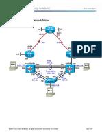 CCNPv7 TSHOOT Lab9-1 Network-Mirror Student