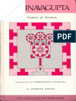 Abhinavagupta - A Trident of Wisdom - Translation of Paratrishika-Vivarana (Singh)
