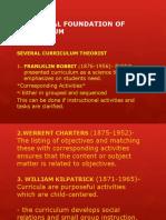 Historical Foundation of Curriculum. Educ 301 Reprt