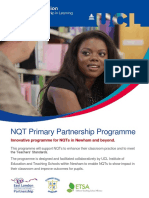 NQT Primary Partnership Programme - 2016-17