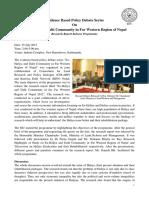 Report on Haliya Policy Debate-27 July, 2012