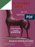 Exposition Art Avranches 2016  - le catalogue