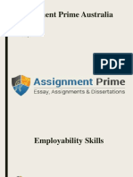 Assignment Prime Australia Sample on Employability Skills