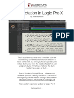 Drum Notation in Logic Pro X