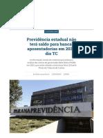 Previdência estadual não terá saldo para bancar aposentadorias em 2037, diz TC _ Vida Pública _ Gazeta do Povo