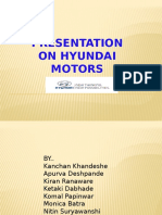 Presentation on Hyundai Motors