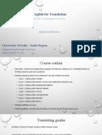 English for translation - Aditya - Module 6.ppt