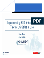 R12 E Business Tax for US Sales Use Taxes