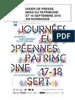 Dossier dJournées européennes du patrimoine 2016 - le programme en Normandie