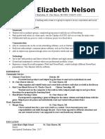 resume template  2