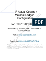 Costing and Material Ledger Config ECC6