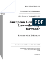 European Contract Law Report of Hous