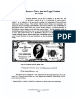 No Legal Tender - Federal reserve Notes