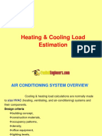 Air Condiitoning Heating & Cooling Load Calculations pdf | Building