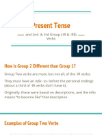 present tense of group two and three verbs