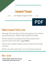 present tense of -ont verbs
