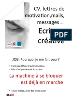 Lettre de Motivation Mail de contact Message